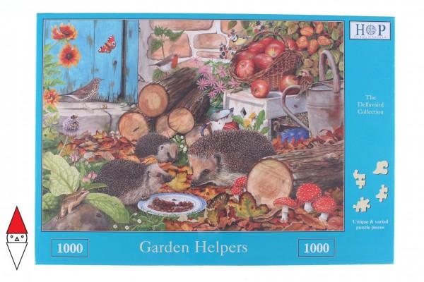 THE HOUSE OF PUZZLES, The-House-of-Puzzles-3206, 5060002003206, PUZZLE ANIMALI THE HOUSE OF PUZZLES RICCI GARDEN HELPERS 1000 PZ
