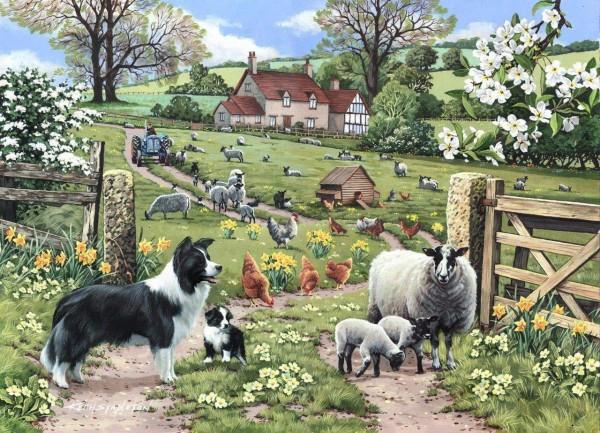 THE HOUSE OF PUZZLES, The-House-of-Puzzles-4975, 5060002004975, PUZZLE ANIMALI THE HOUSE OF PUZZLES PECORE EARLY LEARNING 1000 PZ