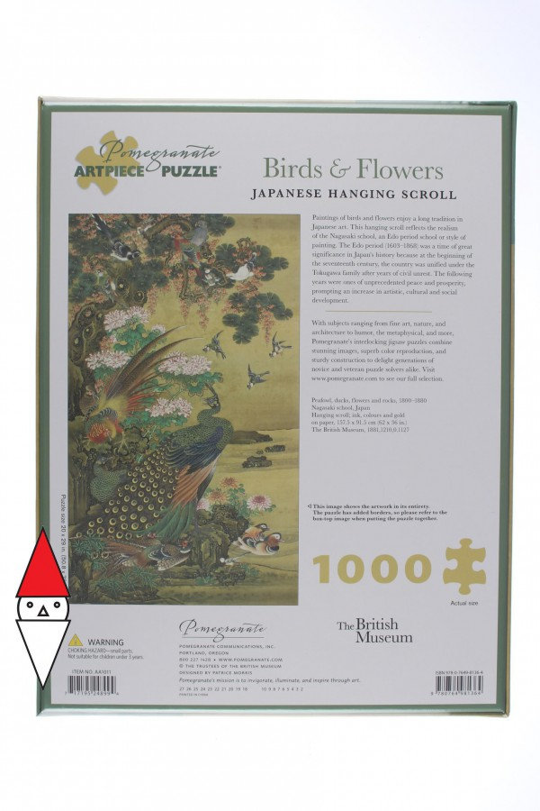POMEGRANATE, Pomegranate-AA1011, 9780764981364, PUZZLE ARTE POMEGRANATE ARTE ORIENTALE PEAFOWL DUCKS FLOWERS AND ROCKS 1000 PZ
