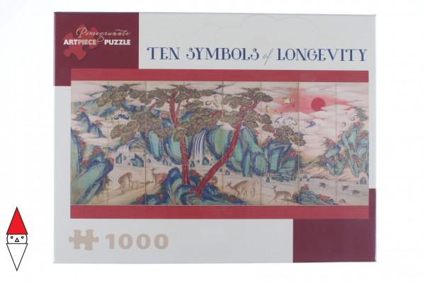 POMEGRANATE, Pomegranate-AA918, 9780764972546, PUZZLE ARTE POMEGRANATE ARTE ORIENTALE DYNASTY TEN SYMBOLS OF LONGEVITY 1000 PZ