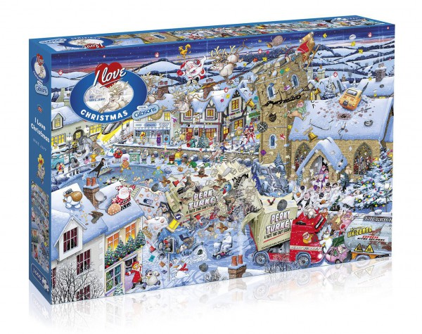 GIBSONS, G7013, 5012269070132, PUZZLE TEMATICO GIBSONS NATALE I LOVE CHRISTMAS 1000 PZ