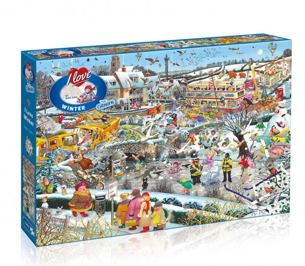 GIBSONS, G7056, 5012269070569, PUZZLE TEMATICO GIBSONS INVERNO I LOVE WINTER 1000 PZ