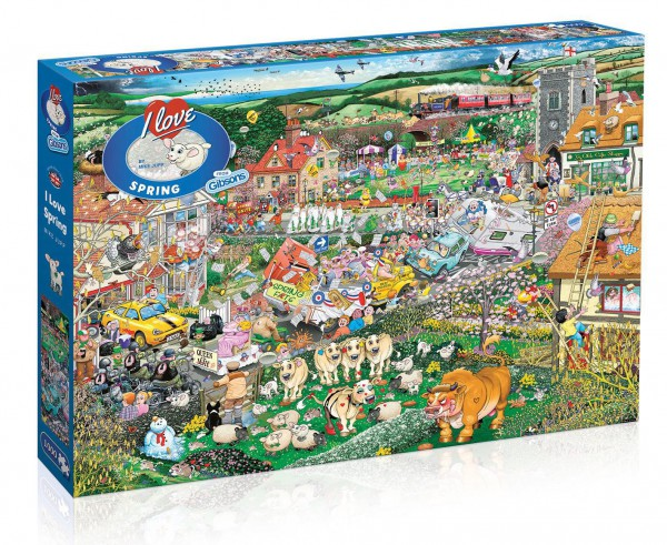 GIBSONS, G7021, 5012269070217, PUZZLE TEMATICO GIBSONS PRIMAVERA I LOVE SPRING 1000 PZ