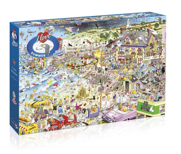 GIBSONS, G7038, 5012269070385, PUZZLE TEMATICO GIBSONS ESTATE I LOVE SUMMER 1000 PZ