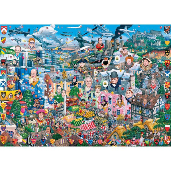 GIBSONS, G469, 5012269004694, PUZZLE TEMATICO GIBSONS NAZIONI I LOVE GREAT BRITAIN 1000 PZ