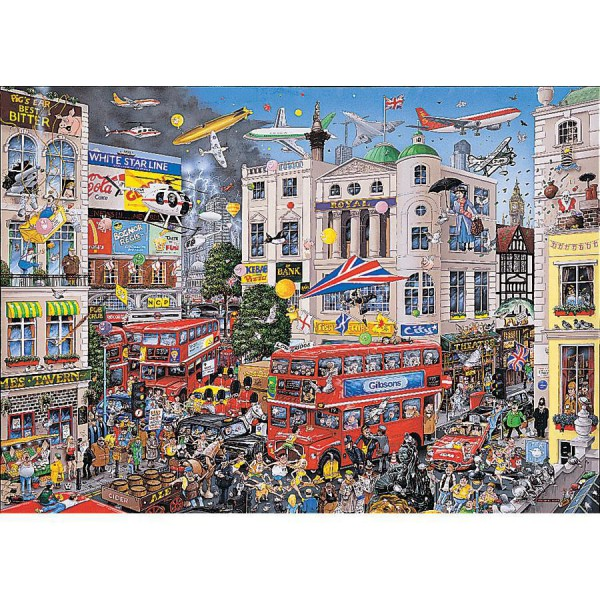 GIBSONS, G579, 5012269005790, PUZZLE TEMATICO GIBSONS CITTA I LOVE LONDON LONDRA 1000 PZ