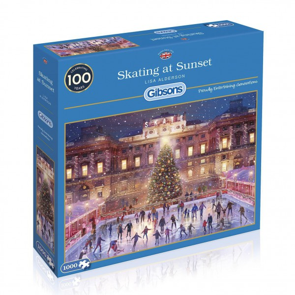 GIBSONS, G6276, 5012269062762, PUZZLE TEMATICO GIBSONS NATALE SKATING AT SUNSET 1000 PZ