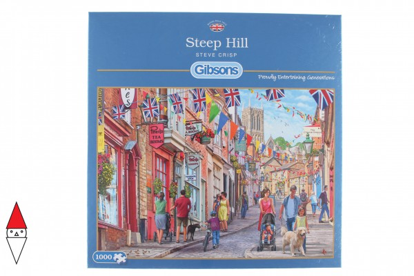 GIBSONS, G6229, 5012269062298, PUZZLE PAESAGGI GIBSONS CITTA STEEP HILL 1000 PZ