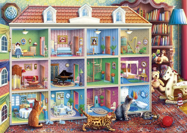 GIBSONS, G6270, 5012269062700, PUZZLE OGGETTI GIBSONS GIOCATTOLI GATTI CURIOUS KITTENS 1000 PZ