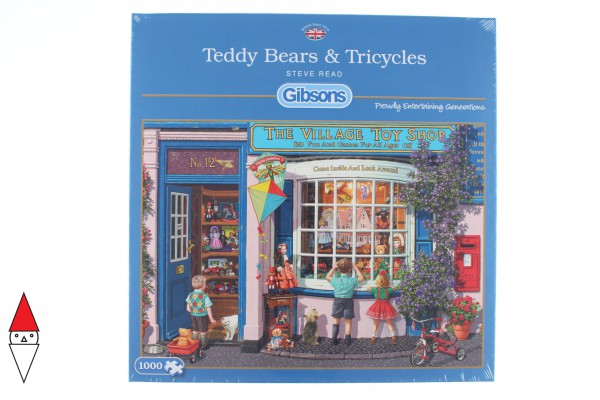 GIBSONS, G6225, 5012269062250, PUZZLE TEMATICO GIBSONS NEGOZI TEDDY BEARS AND TRICYCLES 1000 PZ