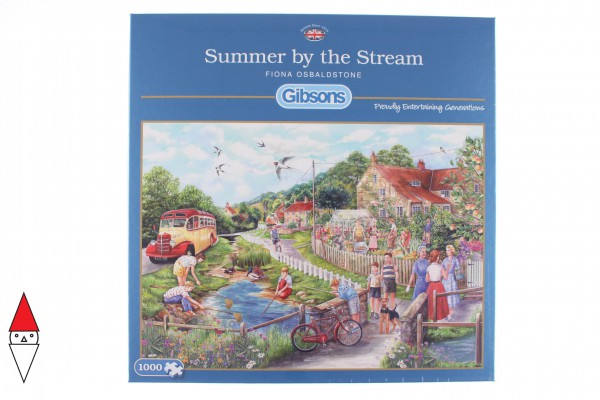 GIBSONS, G6238, 5012269062380, PUZZLE TEMATICO GIBSONS CAMPAGNA SUMMER BY THE STREAM 1000 PZ