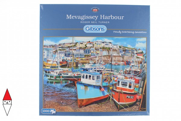 GIBSONS, G6220, 5012269062205, PUZZLE PAESAGGI GIBSONS PORTI MEVAGISSEY HARBOUR 1000 PZ