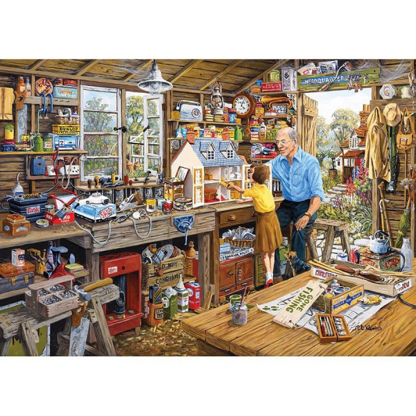 GIBSONS, G6061, 5012269060614, PUZZLE TEMATICO GIBSONS MESTIERI GRANDADS WORKSHOP 1000 PZ