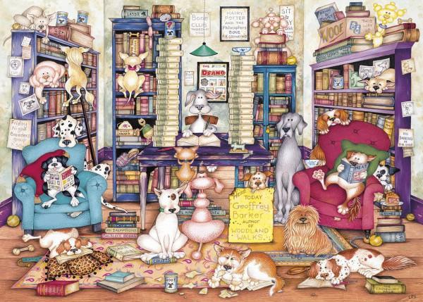 GIBSONS, G6273, 5012269062731, PUZZLE ANIMALI GIBSONS GATTI BARKS BOOKS 1000 PZ
