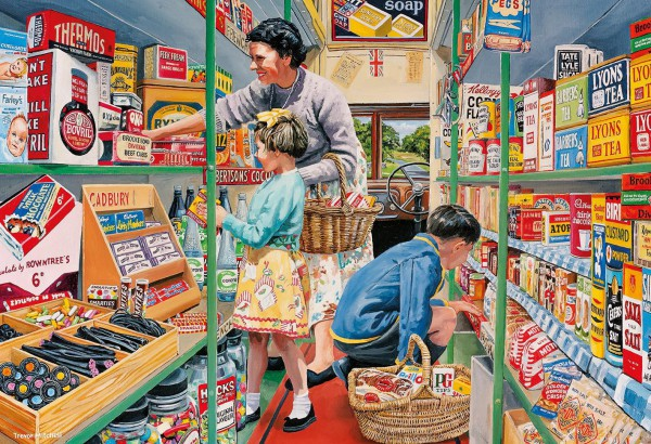 GIBSONS, G5040, 5012269050400, PUZZLE TEMATICO GIBSONS NEGOZI MITCHELLS MOBILE SHOP 4X500 PZ