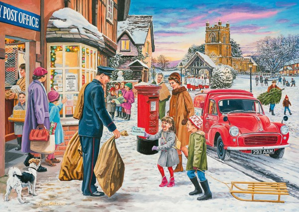 GIBSONS, G5046, 5012269050462, PUZZLE TEMATICO GIBSONS NATALE MAGIC OF CHRISTMAS 4X500 PZ