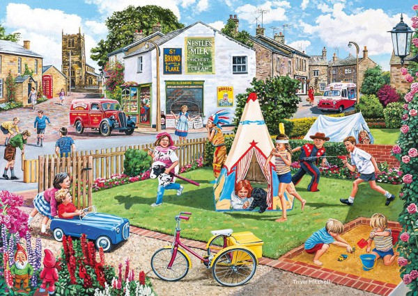 GIBSONS, G5042, 5012269050424, PUZZLE TEMATICO GIBSONS STAGIONI WIGWAMS AND WOOLLY HATS 2X500 PZ
