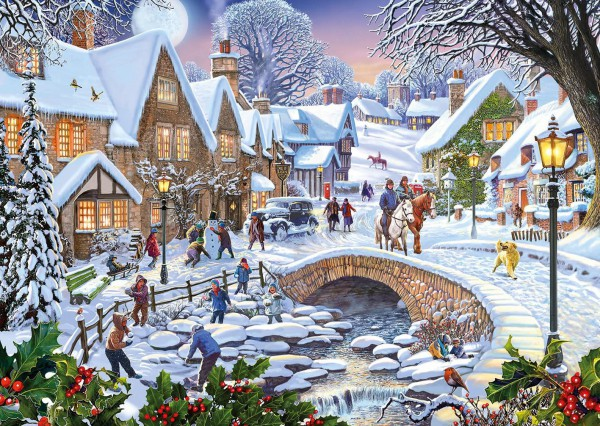 GIBSONS, G5045, 5012269050455, PUZZLE TEMATICO GIBSONS STAGIONI SUMMER DAYS AND SNOWFLAKES 2X500 PZ