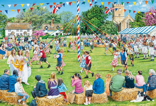 GIBSONS, G5051, 5012269050516, PUZZLE TEMATICO GIBSONS CAMPAGNA VILLAGE CELEBRATIONS 4X500 PZ