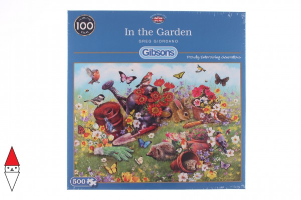 GIBSONS, G3122, 5012269031225, PUZZLE ANIMALI GIBSONS PRIMAVERA IN THE GARDEN 500 PZ