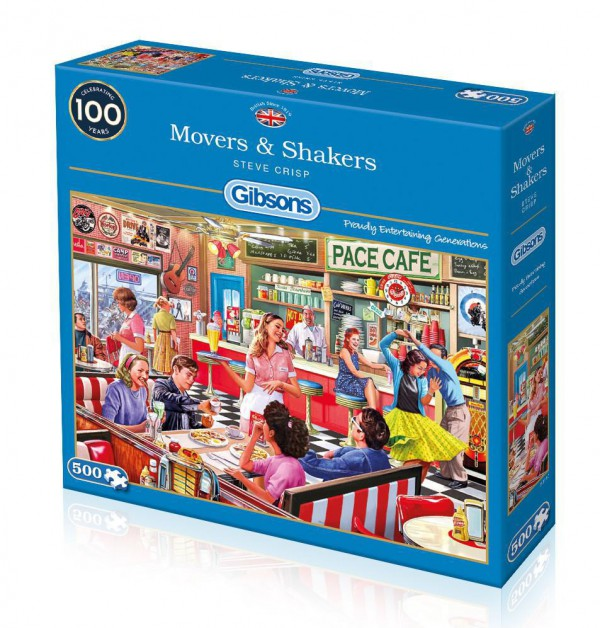 GIBSONS, G3117, 5012269031171, PUZZLE TEMATICO GIBSONS BAR RISTORANTI MOVERS AND SHAKERS 500 PZ