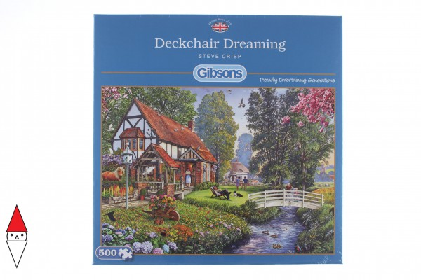 GIBSONS, G3114, 5012269031140, PUZZLE MEZZI DI TRASPORTO GIBSONS CAMPAGNA DECKCHAIR DREAMING 500 PZ