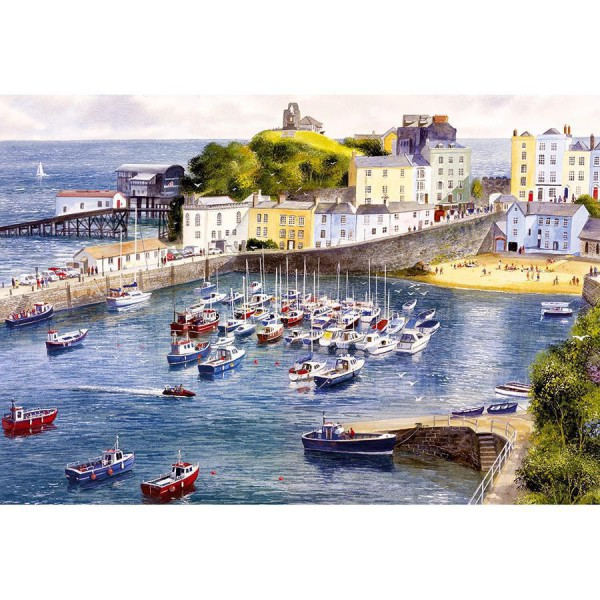 GIBSONS, G3038, 5012269030389, PUZZLE PAESAGGI GIBSONS PORTI TENBY 500 PZ