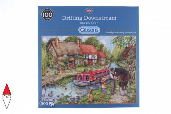 GIBSONS, G3120, 5012269031201, PUZZLE TEMATICO GIBSONS CAMPAGNA DRIFTING DOWNSTREAM 500 PZ 500 PZ