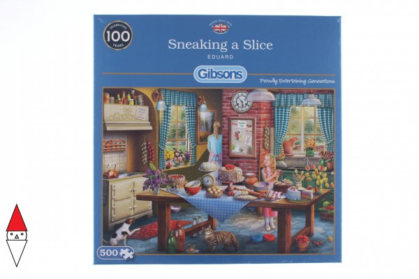 GIBSONS, G3116, 5012269031164, PUZZLE TEMATICO GIBSONS INTERNI SNEAKING A SLICE 500 PZ