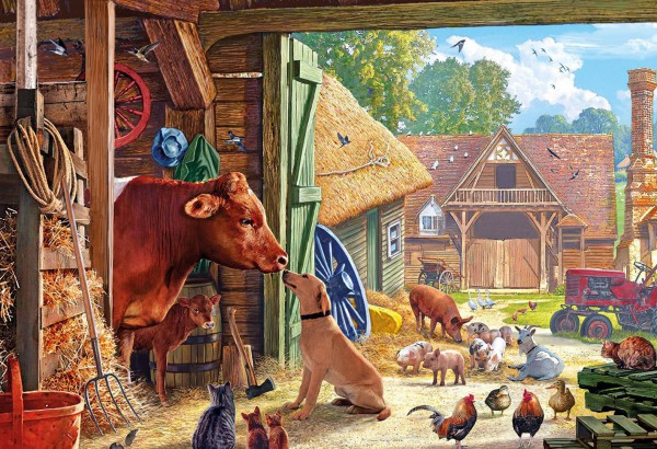 GIBSONS, G3099, 5012269030990, PUZZLE ANIMALI GIBSONS CAMPAGNA BEST FRIENDS 500 PZ