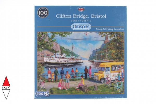 GIBSONS, G3123, 5012269031232, PUZZLE PAESAGGI GIBSONS LAGHI CLIFTON BRIDGE BRISTOL 500PZ