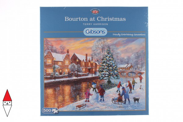 GIBSONS, G3088, 5012269030884, PUZZLE TEMATICO GIBSONS NATALE BOURTON AT CHRISTMAS 500 PZ