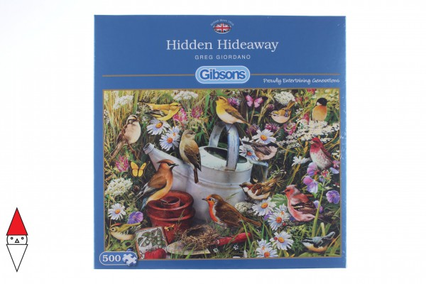 GIBSONS, G3033, 5012269030334, PUZZLE ANIMALI GIBSONS UCCELLI HIDDEN HIDEAWAY 500 PZ
