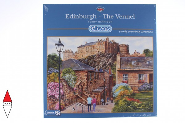 GIBSONS, G6226, 5012269062267, PUZZLE TEMATICO GIBSONS CITTA EDINBURGH - THE VENNEL 1000 PZ