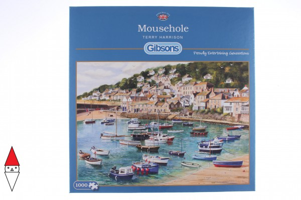 GIBSONS, G6127, 5012269061277, PUZZLE PAESAGGI GIBSONS PORTI MOUSEHOLE 1000 PZ