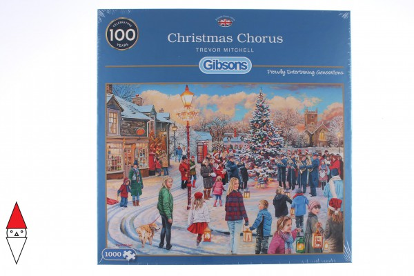 GIBSONS, G6275, 5012269062755, PUZZLE TEMATICO GIBSONS NATALE CHRISTMAS CHORUS 1000 PZ