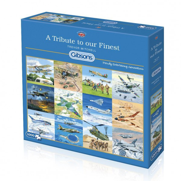 GIBSONS, G6242, 5012269062427, PUZZLE MEZZI DI TRASPORTO GIBSONS AEREI A TRIBUTE TO OUR FINEST 1000 PZ