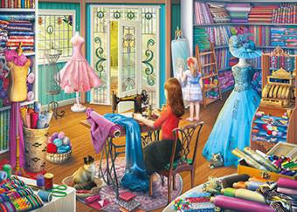 GIBSONS, G6261, 5012269062618, PUZZLE TEMATICO GIBSONS MESTIERI THE DRESSMAKERS DAUGHTER 1000 PZ