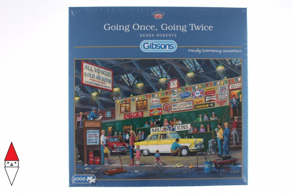 GIBSONS, G6234, 5012269062342, PUZZLE TEMATICO GIBSONS NEGOZI GOING ONCE GOING TWICE 1000 PZ