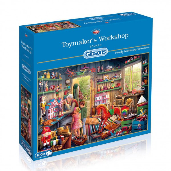 GIBSONS, G6249, 5012269062496, PUZZLE TEMATICO GIBSONS MESTIERI TOYMAKERS WORKSHOP 1000 PZ