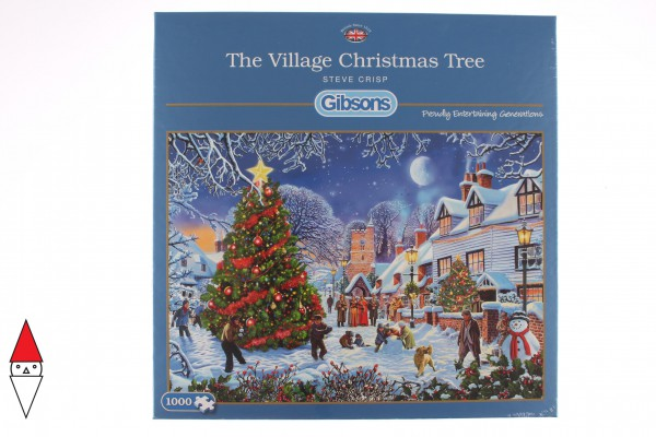 GIBSONS, G6224, 5012269062243, PUZZLE TEMATICO GIBSONS NATALE THE VILLAGE CHRISTMAS TREE 1000 PZ
