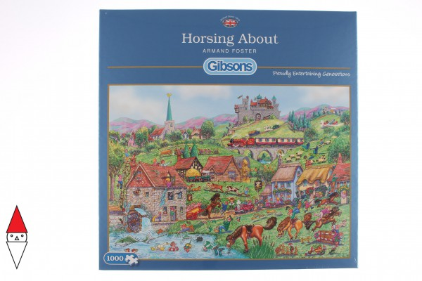 GIBSONS, G6235, 5012269062359, PUZZLE TEMATICO GIBSONS CAMPAGNA HORSING ABOUT 1000 PZ