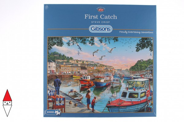 GIBSONS, G6232, 5012269062328, PUZZLE PAESAGGI GIBSONS PORTI FIRST CATCH 1000 PZ