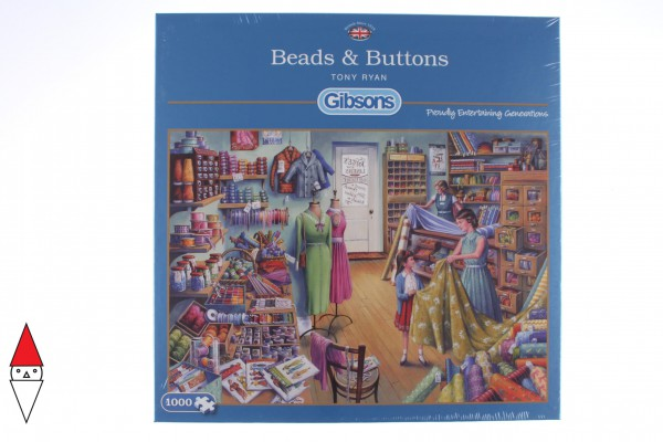 GIBSONS, G6159, 5012269061598, PUZZLE TEMATICO GIBSONS MESTIERI BEADS AND BUTTONS 1000 PZ