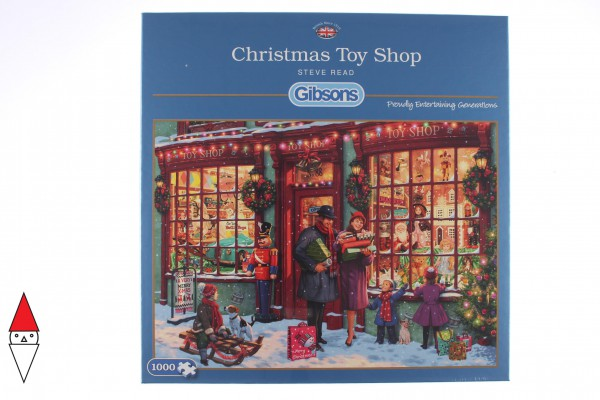 GIBSONS, G6252, 5012269062526, PUZZLE TEMATICO GIBSONS NATALE CHRISTMAS TOY SHOP 1000 PZ