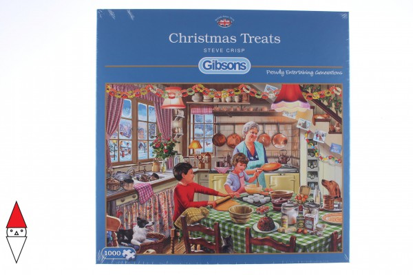 GIBSONS, G6253, 5012269062533, PUZZLE TEMATICO GIBSONS NATALE CHRISTMAS TREATS 1000 PZ