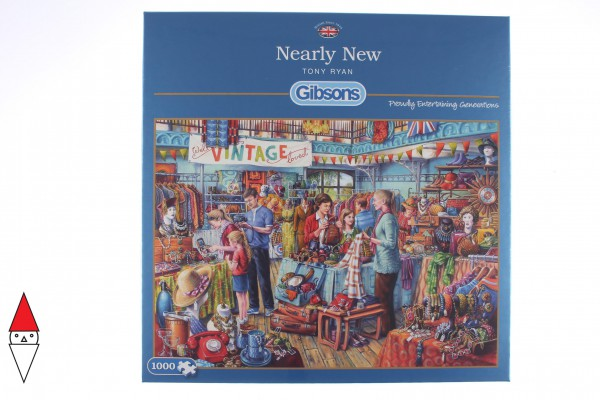 GIBSONS, G6230, 5012269062304, PUZZLE TEMATICO GIBSONS NEGOZI NEARLY NEW 1000 PZ