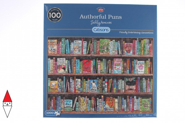 GIBSONS, G6257, 5012269062571, PUZZLE OGGETTI GIBSONS VINTAGE AUTHORFUL PUNS 1000 PZ