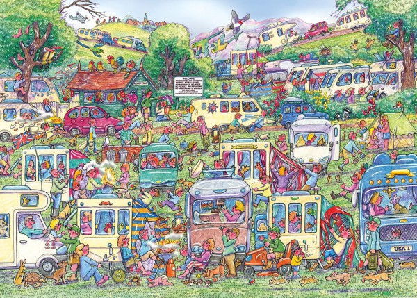 GIBSONS, G6258, 5012269062588, PUZZLE TEMATICO GIBSONS ESTATE CARAVAN CHAOS 1000 PZ