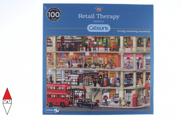 GIBSONS, G6262, 5012269062625, PUZZLE TEMATICO GIBSONS NEGOZI RETAIL THERAPY 1000 PZ